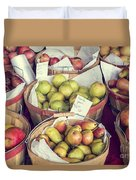 Apples And Pears For Sale Duvet Cover