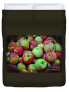 Apples Apples And More Apples Duvet Cover