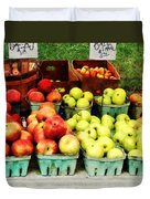 Apples At Farmer's Market Duvet Cover