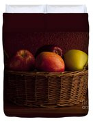 Apples In Basket Duvet Cover