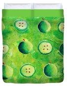 Apples In Halves Duvet Cover