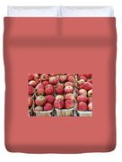 Apples In Small Baskets Duvet Cover