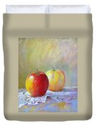 Apples On A Table Duvet Cover