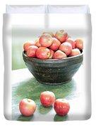 Apples On The Table  Duvet Cover