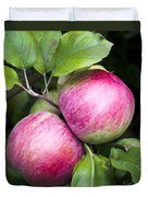 2 Apples On Tree Duvet Cover