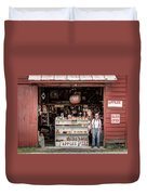 Apples. The Natural Temptation - Farmer And Old Farm Signs Duvet Cover
