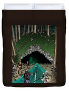Approach To The Kobold Caves Duvet Cover