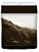 Approaching Dust Storm In Middle West By Frank D. Conard Circa 1938 Duvet Cover