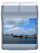 Approaching Miami Duvet Cover