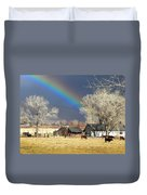 Approaching Storm At Cattle Ranch Duvet Cover