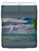 Approaching Storm At Whale Harbor Duvet Cover
