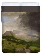 Approaching Storm  White Mountains Duvet Cover by Alvan Fisher