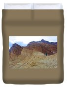 Approaching The Jagged Peaks In Golden Canyon In Death Valley National Park-california  Duvet Cover