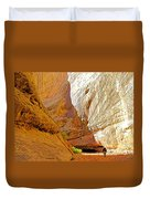 Approaching The Shadow In Grand Wash In Capitol Reef National Park-utah Duvet Cover
