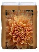 Apricot Dahlia Duvet Cover