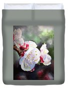 Apricot Flowers Duvet Cover