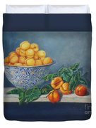 Apricots And Peaches Duvet Cover