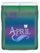 April Name Art Duvet Cover