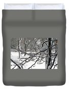 April Snow Duvet Cover by Kay Novy