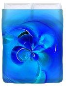 Aqua Blue Orb Duvet Cover