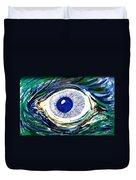 Aqua Eye Duvet Cover
