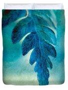 Aqua Fern Duvet Cover