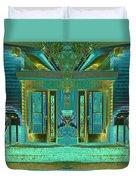 Aqua House 2 Duvet Cover