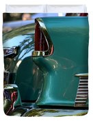 Aqua Marine Blue Chevy Duvet Cover