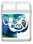 Aqua Mermaid Duvet Cover