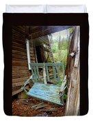 Aqua Porch Swing Duvet Cover