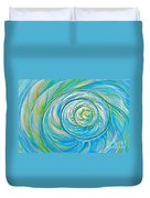 Aqua Seashell Duvet Cover