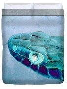 Aqua Serpent Duvet Cover