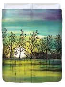 Aqua Sunset Duvet Cover
