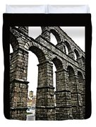 Aqueduct Of Segovia - Spain Duvet Cover by Juergen Weiss