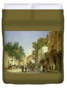 Arab Street Scene Duvet Cover