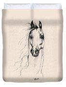 Arabian Horse Drawing 25 Duvet Cover