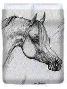 Arabian Horse Drawing 28 Duvet Cover