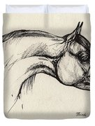 Arabian Horse Drawing 30 Duvet Cover