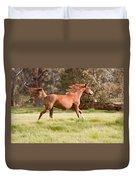 Arabian Horse Running Free Duvet Cover