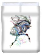 Arabian Horse Trotting In Air Duvet Cover