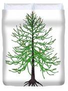 Araucaria Prehistoric Tree Duvet Cover
