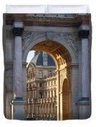 Arc De Triomphe Du Carrousel Duvet Cover