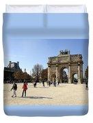 Arc De Triomphe Du Carrousel In Paris France  Duvet Cover