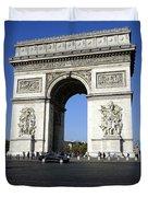 Arc De Triomphe In Paris France Duvet Cover