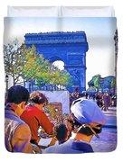 Arc De Triomphe Painter Duvet Cover