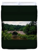 Arch Bridge Across Casselman River Duvet Cover
