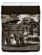 Arch Of Contantine Duvet Cover