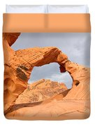 Arch Rock In The Valley Of Fire State Park In Nevada Duvet Cover