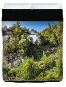 Arch Rock Mackinac Island Michigan Duvet Cover
