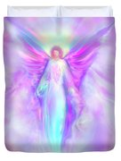 Archangel Raphael Duvet Cover by Glenyss Bourne